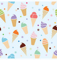 seamless icecream pattern vector image vector image