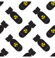 seamless pattern falling bombs vector image vector image