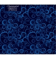 Seamless pattern with curls Blue ornament vector image vector image