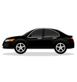 sedan saloon car body type vector image vector image