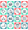 set of 16 e-commerce icons includes bookshelf vector image vector image