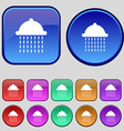 shower icon sign A set of twelve vintage buttons vector image