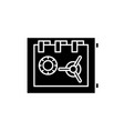 storage in the safe black icon sign on vector image