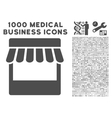 Store Icon with 1000 Medical Business Symbols vector image