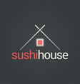 sushi menu house concept design background vector image vector image