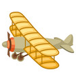 vintage airplane retro vehicle vector image