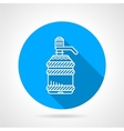 Water cooler bottle blue round icon vector image vector image