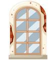 window on brick wall vector image vector image