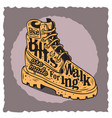 winter male boots themed vintage influenced vector image