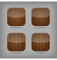 wooden buttons set vector image vector image