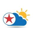 summer vacation design starfish icon vector image