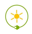 Sun as energy source vector image