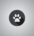 Cat footprint symbol flat vector image