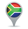 south african flag pointer vector image