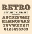 vintage typography font decorative retro vector image