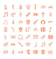 49 musical icons vector image vector image