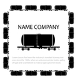 American style tank car vector image vector image