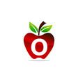 apple letter o logo design template vector image vector image