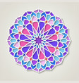 arabic round colorful pattern traditional eastern vector image vector image