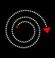 arrow in spiral shape vector image vector image