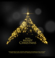 beautiful sparkle glitter christmas tree design vector image vector image