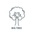 big tree line icon big tree outline sign vector image vector image
