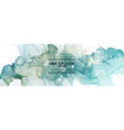 blue watercolor horizontal banners on white vector image