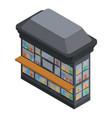 book street shop icon isometric style vector image vector image