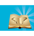 Butterfly cut out of book vector image vector image