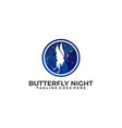 butterfly luxury design concept template this vector image