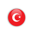 button turkey flag template design vector image vector image