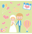 celebration of love wedding romantic couple vector image