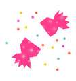 christmas cracker clip art with confetti ripped vector image vector image