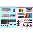 Clothes shop concept vector image