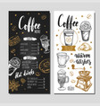 coffee and bakery restaurant menu 5 vector image