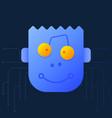 cute cartoon a robot head a creative vector image