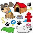 dog pictures collection vector image