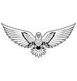 eagle attack mascot line art vector image