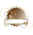 Elegant frame decorated with flowers vector image vector image