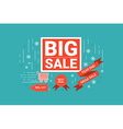 End of year big sale label vector image