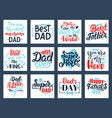 fathers day calligraphy quotes hand drawn vector image vector image
