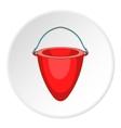 Fire bucket icon cartoon style vector image vector image