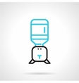Flat line icon for home water cooler vector image vector image