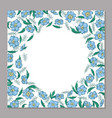 floral square template for greeting card cover vector image vector image