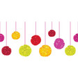 fun colorful birthday party paper pom poms vector image vector image
