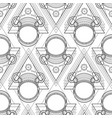 graphic austronaut in triangle vector image