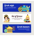 Greece banner set vector image vector image