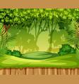 green jungle landscape scene vector image vector image