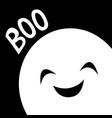 happy halloween ghost spirit in corner boo vector image
