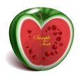 Heart-shape watermelon vector image